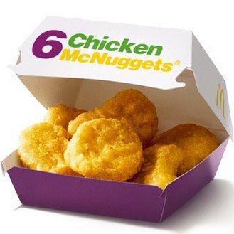 Chicken McNuggets 6er für 1,50€ (statt 4,19€)   oder mit HappyMeal zusammen 6,50€
