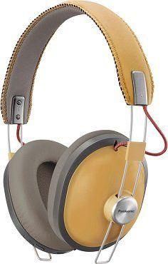 PANASONIC RP HTX80BE Over ear Kopfhörermit Bluetooth in Ocker/Schwarz für 55€ (statt 67€)