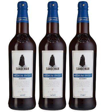 Sandeman Medium Sweet Sherry (3x 0,75 Liter) für 11,70€ (statt 27€)   Prime Versand