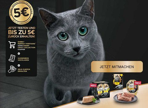 Kostenloses Katzenfutter von Sheba