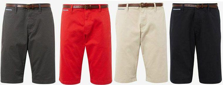 Tom Tailor Josh Chino Shorts inkl. Gürtel für je 19,99€ (statt 25€)