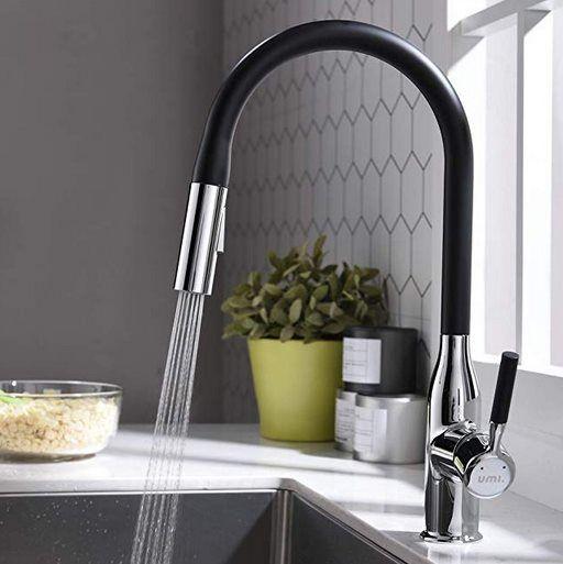 360° drehbarer Wasserhahn mit ausziehbarer Brause für 42,99€ (statt 86€)