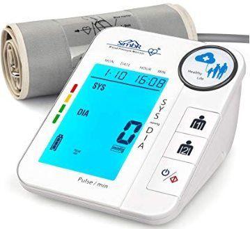 Digitales Oberarm Blutdruckmessgerät mit Arrhythmie Erkennung für 2 Personen für 15,59€ (statt 26€)