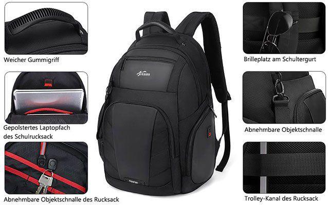 Fresion Rucksack für Laptops mit bis zu 17 Zoll & RFID Tasche für 24,99€ (statt 50€)