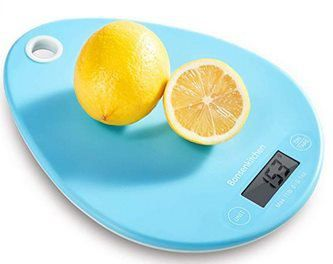 Digitale Küchenwaage in Blau für 6,49€   Prime
