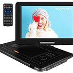Tragbarer DVD-Player mit 15,5 Zoll und eingebautem Akku für 53,99€ (statt 90€)