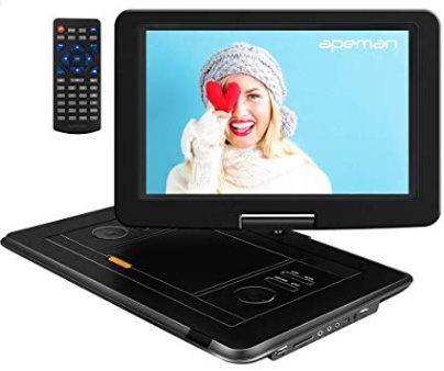 Tragbarer DVD Player mit 15,5 Zoll und eingebautem Akku für 53,99€ (statt 90€)