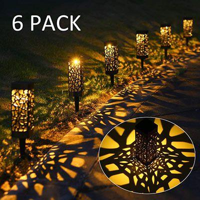 6er Pack LED Solar Gartenleuchten für 14,99€ (statt 25€)