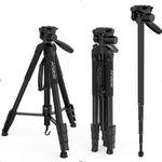 Andoer Fotokamera-Stativ aus Aluminiumlegierung mit Tragetasche für 18,49€ (statt 37€)