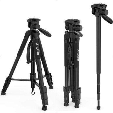 Andoer Fotokamera Stativ aus Aluminiumlegierung mit Tragetasche für 18,49€ (statt 37€)