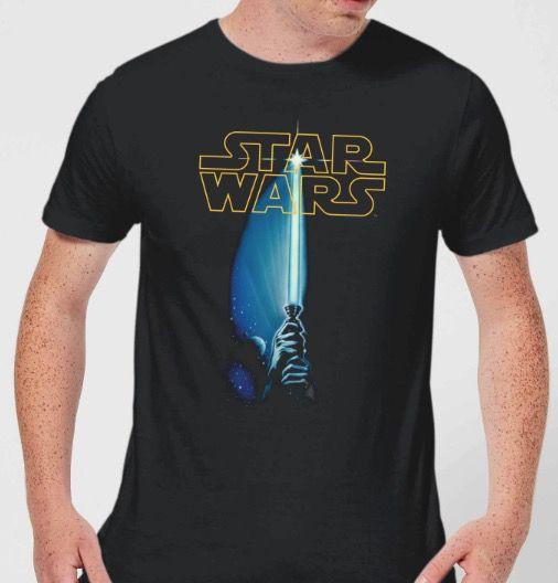 Star Wars Lichtschwert Herren T Shirt bis 5XL (!) für 10,99€ (statt 19€)
