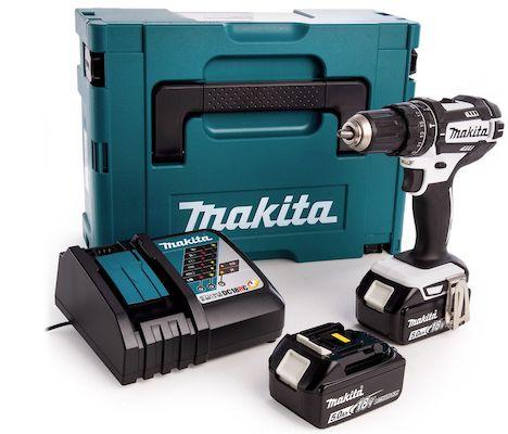 Makita DHP482RTWJ Schlagbohrschrauber mit 2x 5 Ah Akkus für 218,90€ (statt 240€)