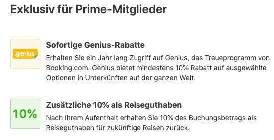Booking.com: Reise für mind. 700€ buchen + 1 Jahr Amazon Prime gratis