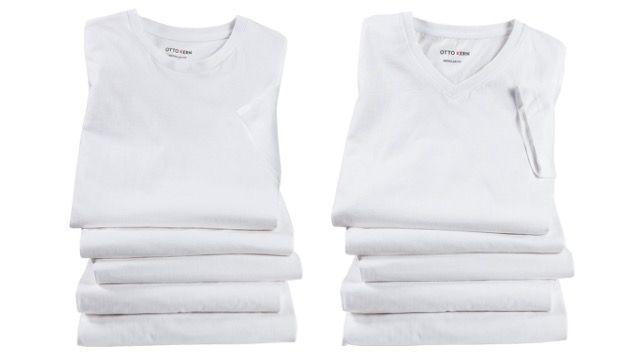 5er Pack OTTO KERN T Shirts mit Rundhals oder V Neck für 29,99€   nur 6€ pro Designer Shirt