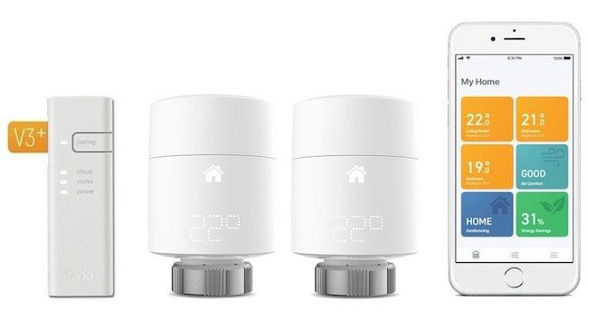 tado Smartes Heizkörper Thermostat Starter Kit V3+ inkl. 2. Thermostat für 94€ (statt 168€)