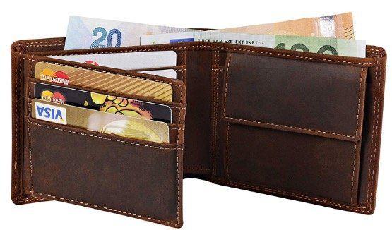 Nestron Herren Geldbörse aus Vintage Echtleder und RFID Schutz für 11,97€ (statt 24€)