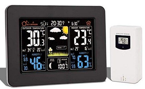 Wolketon Wetterstation inkl. Außensensor mit Wettervorhersage und Hygrometer für 24,49€ (statt 35€)