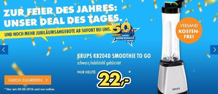 Krups KB204D Smoothie Standmixer Perfect in Schwarz/Edelstahl gebürstet für 22€ (statt 33€)