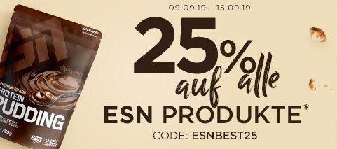 Fitmart: 25% Rabatt auf fast Alles von ESN   z.B. günstig Whey und Ergänzungsmittel