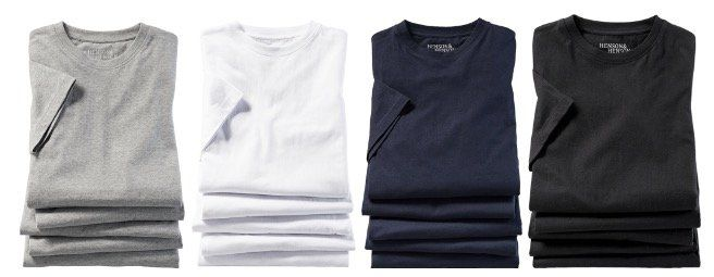 10er Pack Henson&Henson T Shirts diverse Farben für 47,98€ (vorher 80€) + Nordcap Rucksack mit Kühlfach gratis!