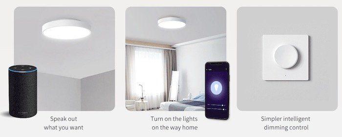 Yeelight Deckenleuchte mit HomeKit Funktion ab 72,88€ + gratis RGB E27 Birne