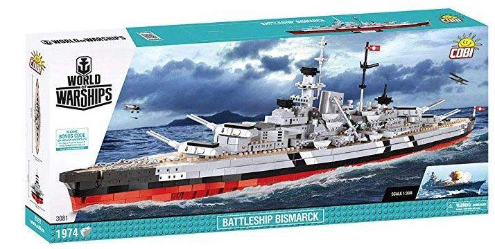 Cobi Battleship Bismarck Modellbau Set für 56,47€ (statt 110€)