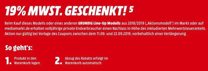 Media Markt: Grundig Fernseher ohne MwSt.   z.B. 65 Grundig GUB 9980 für 943€ (statt 1.075€)