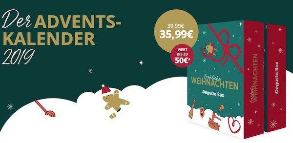 Degusta Adventskalender mit köstlichen Überraschungen für 28,79€ (Wert bis zu 50€)