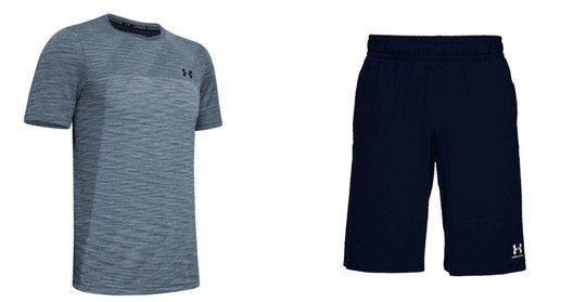 Under Armour Freizeit Sportoutfit 2 teilig (Trainingsshirt + Shorts) für 32,95€ (statt 64€)