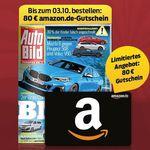 1 Jahr Auto Bild (51 Ausgaben) für 112,20€ + 80€ Amazon Gutschein