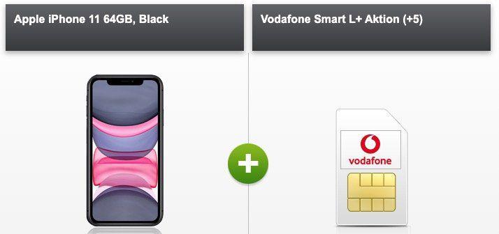 Apple iPhone 11 64GB für 149€ + Vodafone Flat mit 10GB LTE für 36,99€ mtl.