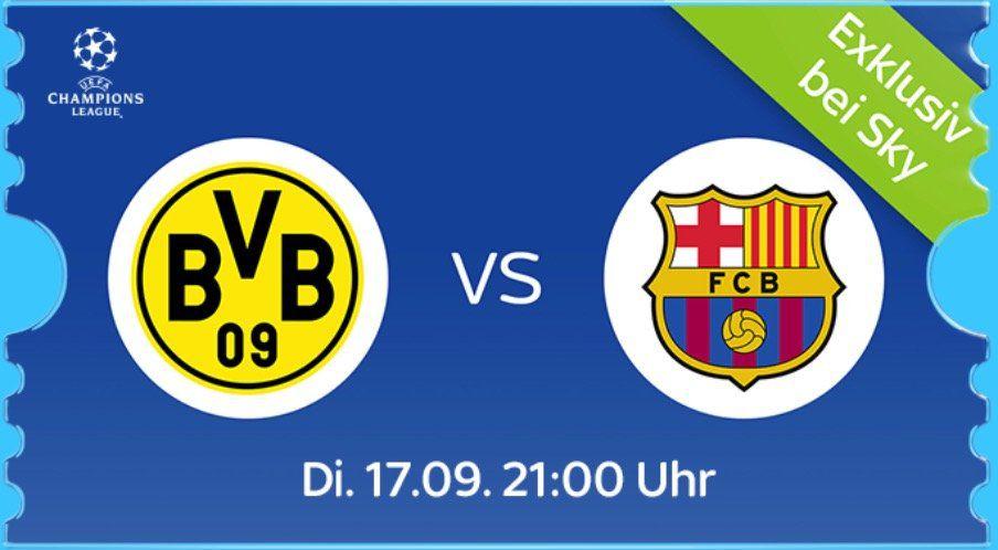 BVB vs. Barca: 1 Monat Sky Supersport Ticket für 9,99€ oder 4 Monate für 59,99€