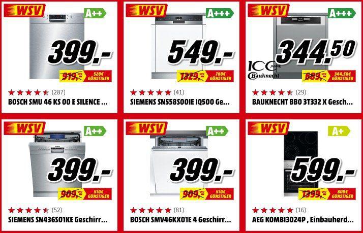 Media Markt: Einbaugeräte zum halben Preis   z.B. Privileg Herd Set für 289,50€ (statt 329€)