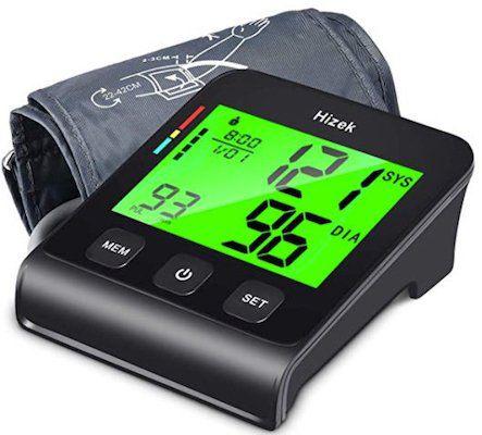 Hizek Oberarm Blutdruckmessgerät mit 4 Zoll Bildschirm für 22,49€(statt 30€)   Prime