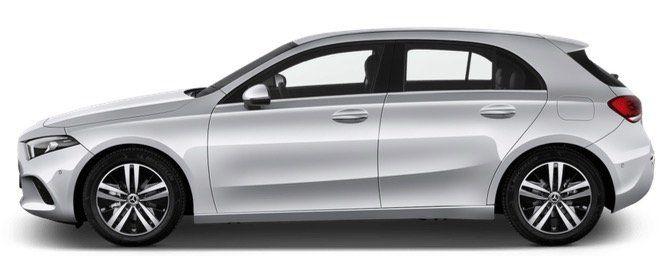 Privat: Mercedes A180 136PS mit Widescreen Cockpit in Polarweiß für 259€ mtl.   LF 0,72
