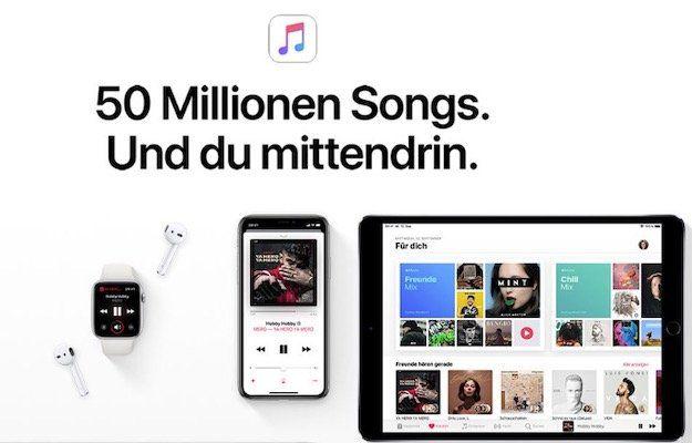 1 Monat Apple Music gratis für Neukunden oder ältere Bestandskunden ohne aktivem Abo