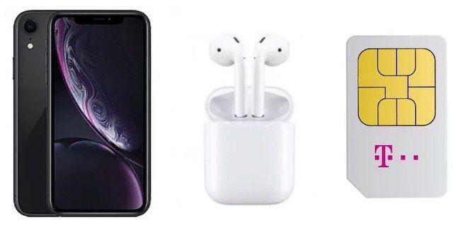 iPhone XR + AirPods 2 für 4,99€ + Telekom Magenta Mobil M mit bis zu 24GB LTE ab 44,95€mtl.