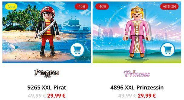 Playmobil Prinzessin oder Pirat als XXL Figur nur 29,99€ (statt 45€)
