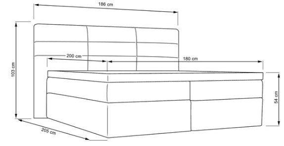 Nur heute: Boxspringbett Lisa 180x200cm inkl. Bonellfederkern Matraze und Topper nur 349,30€ (statt 499€)
