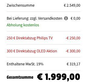 Philips 55OLED9134   55 Zoll OLED UHD Fernseher mit Dolby Atmos Soundbar für 1.999€ (statt 2.569€)