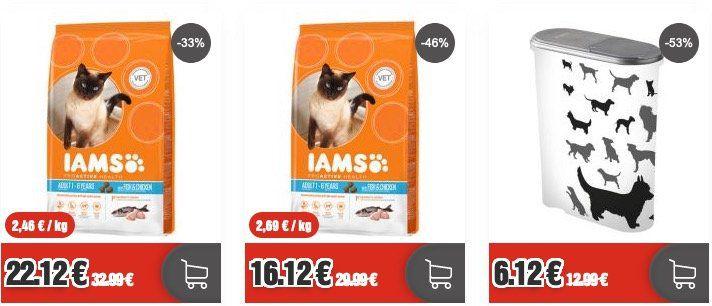 Top12: Katzen und Hundefutter Sale   z.B. AMS Pro Active Health 9kg nur 24,12€