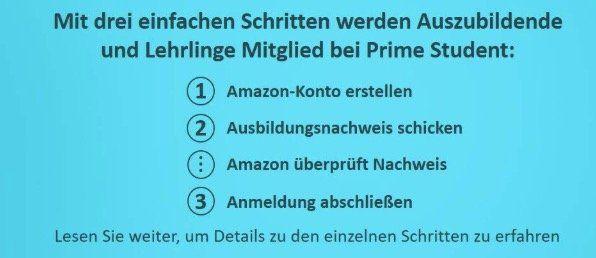 Amazon Prime Student: jetzt auch für Azubis 12 Monate kostenlos