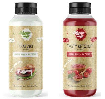 GymQueen Mamma Mia Zero Sauce Tzatziki oder Ketchup für je 1€ + 3,90€ VSK