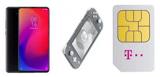 Xiaomi Mi 9T Pro + Nintendo Switch Lite nur 4,99€ + Telekom Flat mit max. 12GB LTE ab 34,95€mtl.
