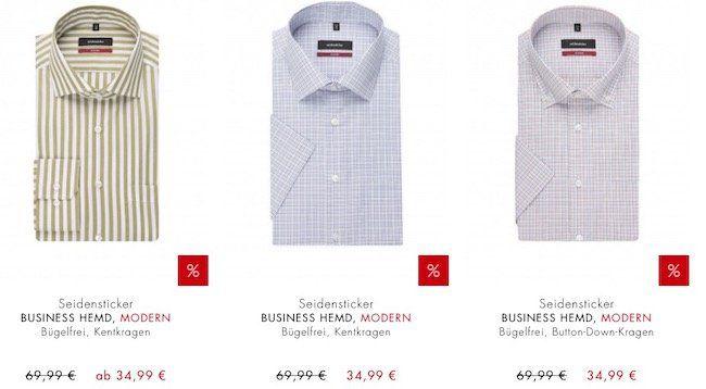 Seidensticker 50% Sale + 20% Extra) + keine VSK   z.B. Hemden ab 23,99€