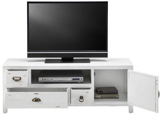 TV Board Lewis Vintage in Weiß für 108,95€ (statt vorher 139€)
