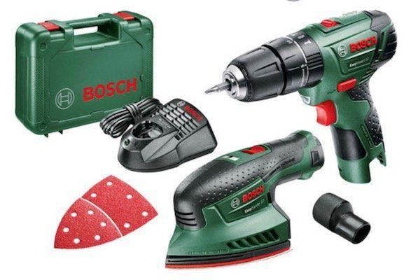 Bosch EasyImpact Schlagbohrmaschine und EasySander Schleifmaschine für 95,90€ (statt 135€)