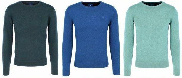 Tom Tailor Herren Basic Sweater aus 100% Baumwolle für je 19,99€ (statt 29€)