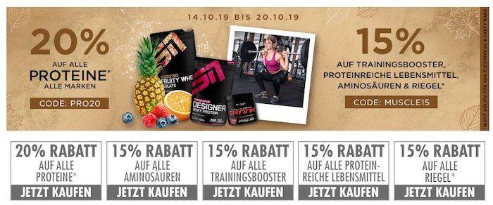 20% auf Proteine & 15% auf Aminos bei Fitmart   z.B. 2,5kg ESN Whey nur 41,82€