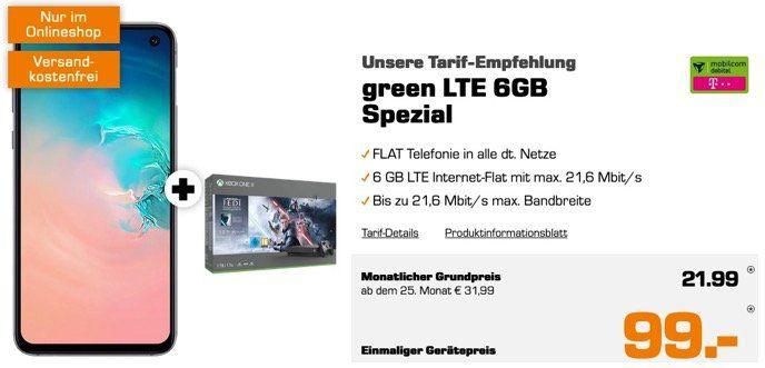 Galaxy S10e + Xbox One X 1TB Star Wars Bundle nur 99€ + Telekom AllNet Flat mit 6GB LTE für 21,99€ mtl.   effektiv Gewinn!